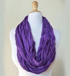Infinity loop scarf  PURPLE  jersey scarf by OriginalDesignsByAR, $15.00