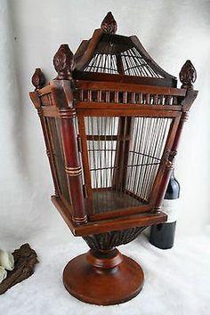 Vintage Wood /metal Birdcage Victorian Style Decorative Bird Cage