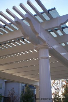 Save energy with a solar pergola!   By installing a solar panel on top of a pergola, an outdoor space is eco-friendly and style-filled!   west-county.archadeck.com