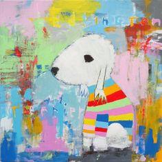 "Saatchi Art Artist Andy Shaw; Painting, ""Bedlington Terrier Dog"" #art"