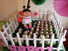 Cabbage patch birthday party cake pops