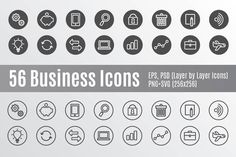 56 Business Icons @creativework247