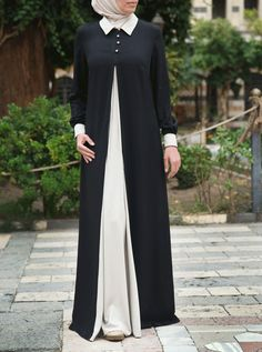 Turkish Fashion, Islamic Fashion, Muslim Fashion, Abaya Fashion, Fashion Dresses, Hijab Style Dress, Mode Abaya, Kebaya Dress, Modele Hijab