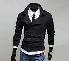 Many Zipper Big Turndown Collar Fitting Casual Fleece Coat For Men (DEEP GRAY,M) | Sammydress.com