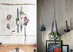 Interiores con plantas: macramé, terrarios, suculentas, cactus, tillandsias... | conkansei.com