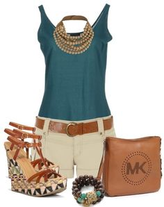 I really like this whole outfit.  A cute pair of flats would also look good.