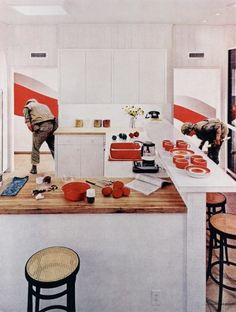 Red Stripe Kitchen from the series House Beautiful: Bringing the War Home Martha Rosler (American, born Pigmented inkjet print (photomontage), printed 23 x 18 x 46 cm). Purchase and The Modern Women's Fund. Seattle Art Museum, Art Institute Of Chicago, Paul Klee, Photomontage, Hans Ulrich Obrist, Jewish Museum, Jasper Johns, Beautiful Homes, House Beautiful