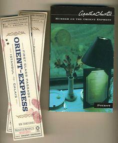 """Agatha Christie """"Murder on the Orient Express"""" w/Train Ticket Bookmark."""