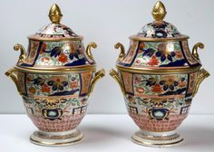 Pair of Coalport Fruit Cooler and Cover | From a unique collection of antique and modern serving pieces at https://www.1stdibs.com/furniture/dining-entertaining/serving-pieces/