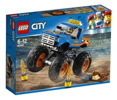 LEGO 60180 City Great Vehicles Monster Truck Toy, Vehicle Construction Sets for Kids reduced to Lego City Sets, Lego Sets, Lego Monster Truck, Legos, Lego City Police, Lego Ninjago Movie, Buy Lego, Lego Friends, Toys Shop