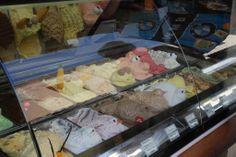 Creative ice cream counter in Greece