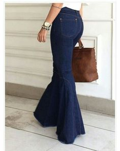 Flare Jeans Outfit, Denim Flare Jeans, Denim Outfit, Classy Outfits, Casual Outfits, Cute Outfits, Fashion Outfits, African Dresses For Kids, African Fashion Dresses