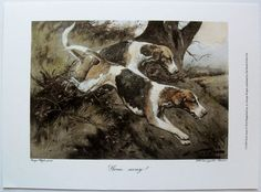 $16.50  Dogs ART Print Gone Away BY George Wright   eBay #dog #pets #walldecor