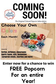 The Great Big Popcorn Giveaway! Win FREE Popcorn for an entire year valued at…