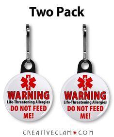 Do NOT FEED ME Medical Alert Severe Food Allergy by MedicalAlert, $5.00