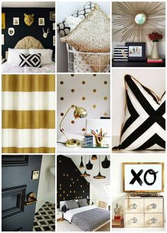 Black White and Gold-colors I want to use for my home. Always been my favorite.