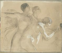 .:. Γύζης Νικόλαος – Gyzis Nikolaos [1842-1901] Η Αποθέωση της Βαυαρίας (σπουδή μορφών που ακολουθούν το άρμα), 1899