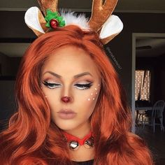 Instagram media by barbell_barbie147 - Throwback to last years Rudolph makeup I can't wait to show you guys the looks I have planned for this Christmas...stay tuned#muastars #makeupartist #makeup #bodypaint #mehron #lasplashcosmetics #anastasiabeverlyhills #crownbrush #universalmua #mua #vanitymakeup #nyxcosmetics #narscosmetics #maccosmetics #facepaint #facepainter #mykie_ #chrisspy  #vegas_nay #sugarpill #mua #motd #balayage #wella #redken #ombre #longhairdontcare #hairstylist #stylist ...