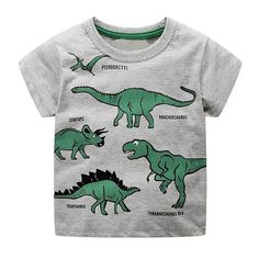 STUFF4 Boy/'s Red Round Neck T-Shirt//Dinosaur//Tyrannosaurus T Rex//SZ