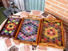 Bandejas-mosaico Más