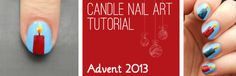 Advent Tutorial: Candles | She Who Does Nails