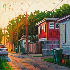 """An Alleys' Morning Light,"" by René Wiley by Rene' Wiley Gallery Oil ~ 16 x 16"
