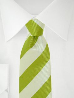 Stropdas duo groen/wit