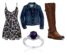 """Caroline Forbes outfit"" by bandsevelyn on Polyvore featuring J.Crew, Frye and Glitzy Rocks"