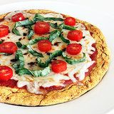 Gluten free pizza crust alternative-top with veggies an diaya cheese-and done