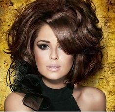 gorgeous hair color and makeup