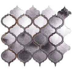 Veranda Paris Gray Quartz and Mirror Tile - Mosaic Tiles