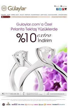 Pırlanta Tektaş Yüzüklerde %10 İndirim Gulaylar.com'da... https://www.gulaylar.com/Urunler/10232/Pirlanta-Yuzuk/tektas.html