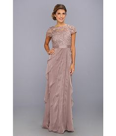 Adrianna Papell Lace Bodice w/ Flutter Skirt Buff - Zappos.com Free Shipping BOTH Ways