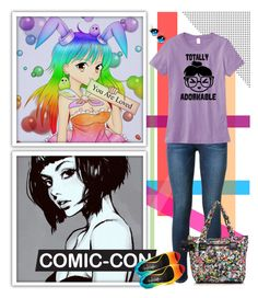 """""""Comic-Con, Anime, Rainbows and Fun!"""" by remysg21 ❤ liked on Polyvore featuring Frame Denim, TaylorSays, LeSportsac, women's clothing, women, female, woman, misses and juniors"""