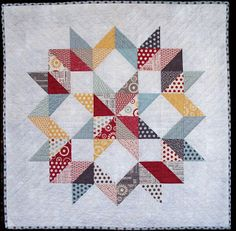 "Carpenter's Star featured in Modern Patchwork by Esch House Quilts!  40"" square, charm pack, HST using Sweetwater's Reunion and Moda Grunge."