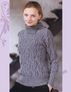 free pattern ladies knitted pullover 00001