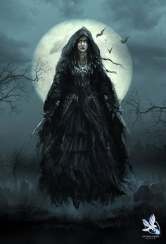 Dark Fantasy Lovers Art | Witch Finished Artwork by *atomhawk on deviantART