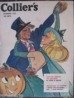 Vintage Halloween Magazine ~ Collier's ©November 1,1947
