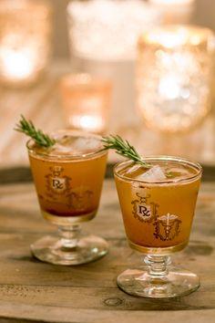 Bourbon Bomber Make it:  3/4 cup apple cider  1/4 cup bourbon  1 1/2 tsp agave nectar  1/2 tsp all spice  1/2 tsp lemon zest  1/2 tsp nutmeg, grated  drop of bitters  pinch of grated ginger  rosemary sprig, for garnish