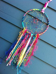 Rainbow Dreams Dreamcatcher by dreamboogie on Etsy, $20.00
