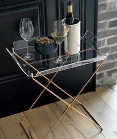 acrylic tray table  | CB2