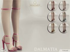 """madlensims: """" Madlen Dalmatia Shoes New gladiator sandals for your sim! Come in 7 colours! You cannot change the mesh, but feel free to recolour it as long as you add original link in the description. If you can't see this creation in CAS, please..."""