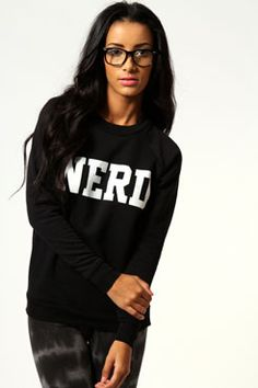 Libby Nerd Print Sweater
