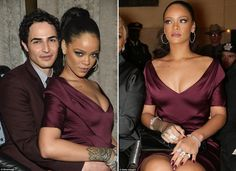 Bad girl gone good! Rihanna ditches the risqué outfits for a sophisticated and demure look at Zac Posen NYFW show.  Rihanna is known for her overly sexy sense of style. However, the 26-year-old seemed to rein it in as she attended Zac Posen\'s showcase on Monday in New York City. She looked demure in a curve-hugging maroon dress as she arrived at the star-studded fashion show.