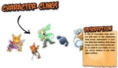Preview of Kickstarter Reward Description for Goblins Alternate Realities: Character Clings #GoblinsGame