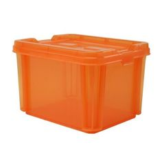 Set of 6 orange storage totes for 39 I like the idea of all