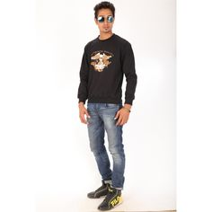 Posh 7 Stylish Eagle Black Sweatshirt  http://goo.gl/xzgSBT
