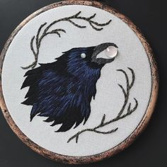 """2,029 Likes, 27 Comments - lyla mori (@moonflesh) on Instagram: """"The black crow variant of """"Clairvoyant"""" — this one has an eye of rainbow moonstone and is clutching…"""""""