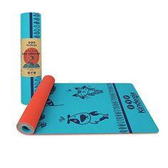 Esterilla de yoga para niños con divertido diseño colorido. Ideal para los  peques de la 34a42d6dee87