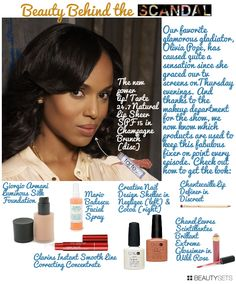 Beauty Behind The Scandal: Olivia Pope - http://www.beautysets.com/sets/8941 - How To Looks Lips #NewYearStyleChallenge